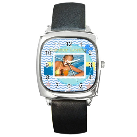 Summer By Summer Time    Square Metal Watch   Hcnm2rx083jf   Www Artscow Com Front