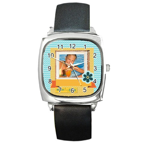 Summer By Summer Time    Square Metal Watch   1mtwme1ugk1j   Www Artscow Com Front