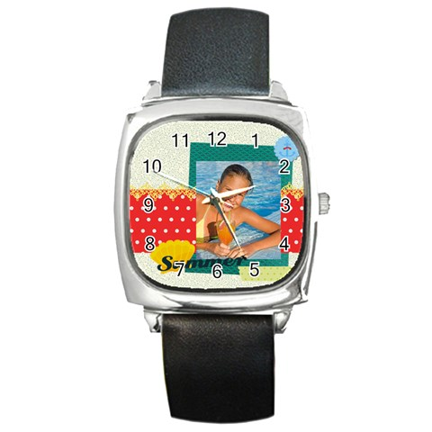 Summer By Summer Time    Square Metal Watch   Y1dt2pykb0rf   Www Artscow Com Front