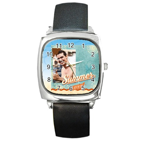 Summer By Summer Time    Square Metal Watch   Yp96mgcy7yh5   Www Artscow Com Front