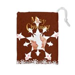 christmas - Drawstring Pouch (Large)