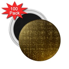 Gold 2.25  Button Magnet (100 pack)