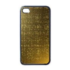 Gold Apple Iphone 4 Case (black) by Colorfulart23
