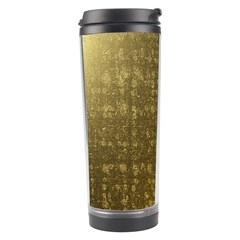 Gold Travel Tumbler by Colorfulart23
