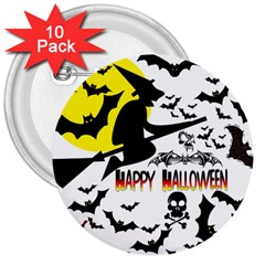 Happy Halloween Collage 3  Button (10 Pack) by StuffOrSomething