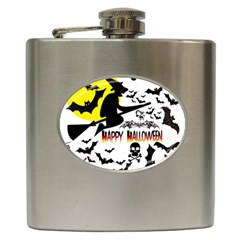 Happy Halloween Collage Hip Flask by StuffOrSomething