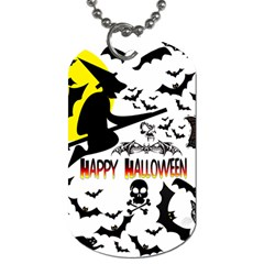 Happy Halloween Collage Dog Tag (two Sided)  by StuffOrSomething