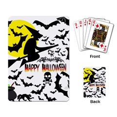 Happy Halloween Collage Playing Cards Single Design by StuffOrSomething
