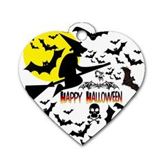 Happy Halloween Collage Dog Tag Heart (two Sided) by StuffOrSomething