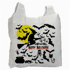 Happy Halloween Collage White Reusable Bag (one Side) by StuffOrSomething