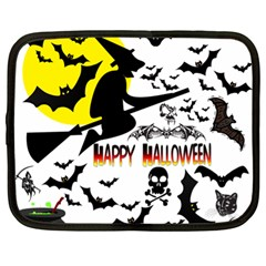 Happy Halloween Collage Netbook Sleeve (xl) by StuffOrSomething