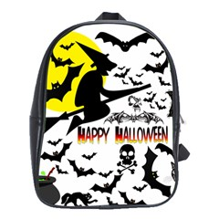 Happy Halloween Collage School Bag (large) by StuffOrSomething