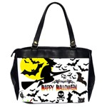 Happy Halloween Collage Oversize Office Handbag (Two Sides) Back