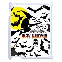 Happy Halloween Collage Apple Ipad 2 Case (white) by StuffOrSomething