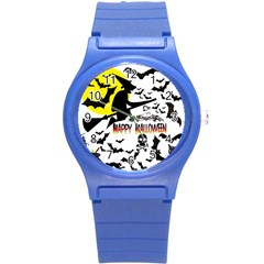 Happy Halloween Collage Plastic Sport Watch (small) by StuffOrSomething