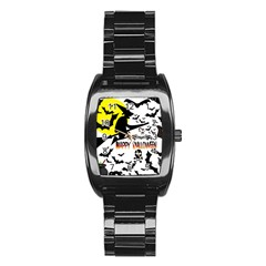 Happy Halloween Collage Stainless Steel Barrel Watch by StuffOrSomething