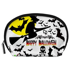 Happy Halloween Collage Accessory Pouch (large) by StuffOrSomething