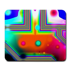Crossroads Of Awakening, Abstract Rainbow Doorway  Large Mouse Pad (rectangle) by DianeClancy