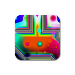 Crossroads Of Awakening, Abstract Rainbow Doorway  Drink Coasters 4 Pack (square) by DianeClancy
