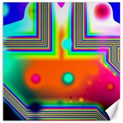 Crossroads Of Awakening, Abstract Rainbow Doorway  Canvas 20  X 20  (unframed) by DianeClancy