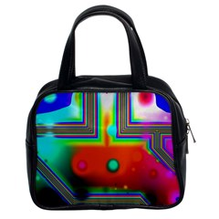 Crossroads Of Awakening, Abstract Rainbow Doorway  Classic Handbag (two Sides) by DianeClancy