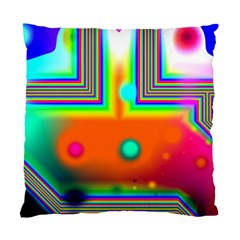 Crossroads Of Awakening, Abstract Rainbow Doorway  Cushion Case (single Sided)  by DianeClancy