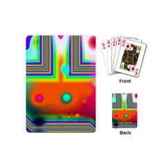 Crossroads Of Awakening, Abstract Rainbow Doorway  Playing Cards (mini) by DianeClancy