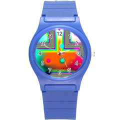 Crossroads Of Awakening, Abstract Rainbow Doorway  Plastic Sport Watch (small) by DianeClancy