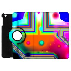 Crossroads Of Awakening, Abstract Rainbow Doorway  Apple Ipad Mini Flip 360 Case by DianeClancy