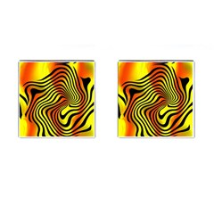 Colored Zebra Cufflinks (square) by Colorfulart23