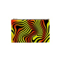 Colored Zebra Cosmetic Bag (small) by Colorfulart23