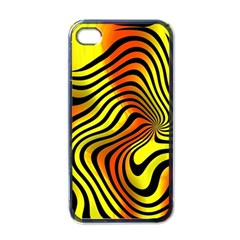 Colored Zebra Apple Iphone 4 Case (black) by Colorfulart23