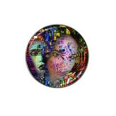 Artistic Confusion Of Brain Fog Golf Ball Marker (for Hat Clip) by FunWithFibro