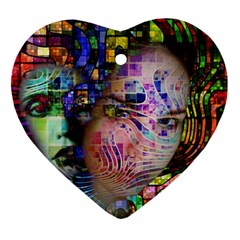 Artistic Confusion Of Brain Fog Heart Ornament (two Sides)