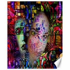 Artistic Confusion Of Brain Fog Canvas 16  X 20  (unframed) by FunWithFibro