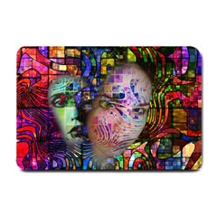 Artistic Confusion Of Brain Fog Small Door Mat by FunWithFibro