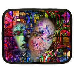 Artistic Confusion Of Brain Fog Netbook Sleeve (xxl) by FunWithFibro