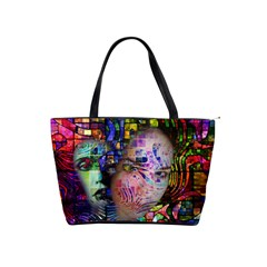 Artistic Confusion Of Brain Fog Large Shoulder Bag by FunWithFibro