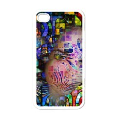 Artistic Confusion Of Brain Fog Apple Iphone 4 Case (white) by FunWithFibro