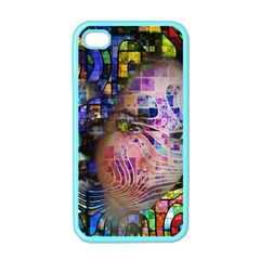 Artistic Confusion Of Brain Fog Apple Iphone 4 Case (color) by FunWithFibro