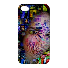 Artistic Confusion Of Brain Fog Apple Iphone 4/4s Hardshell Case by FunWithFibro