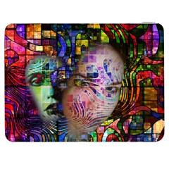 Artistic Confusion Of Brain Fog Samsung Galaxy Tab 7  P1000 Flip Case by FunWithFibro