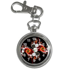 Mysterious Dance In Orange, Gold, White In Joy Key Chain Watch by DianeClancy