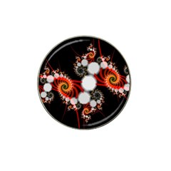 Mysterious Dance In Orange, Gold, White In Joy Golf Ball Marker 4 Pack (for Hat Clip) by DianeClancy
