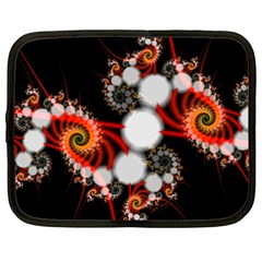 Mysterious Dance In Orange, Gold, White In Joy Netbook Sleeve (large) by DianeClancy