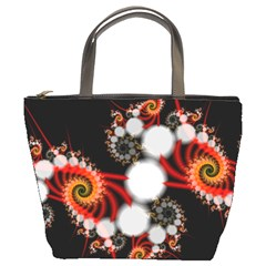 Mysterious Dance In Orange, Gold, White In Joy Bucket Handbag by DianeClancy