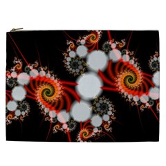 Mysterious Dance In Orange, Gold, White In Joy Cosmetic Bag (xxl) by DianeClancy