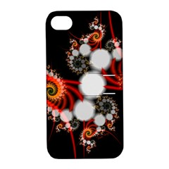 Mysterious Dance In Orange, Gold, White In Joy Apple Iphone 4/4s Hardshell Case With Stand by DianeClancy