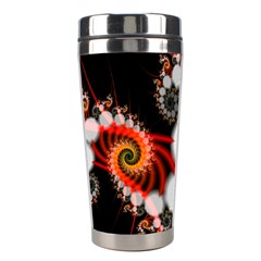 Mysterious Dance In Orange, Gold, White In Joy Stainless Steel Travel Tumbler by DianeClancy