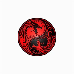 Yin Yang Dragons Red And Black Canvas 24  X 36  (unframed) by JeffBartels